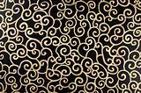 Golden abstract arabesque