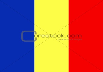 Chad & Romania Flag