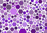 Hexagonal purple