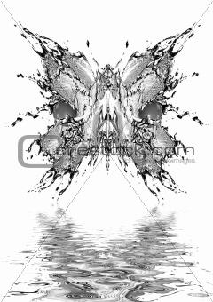 Black water butterfly