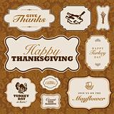 Vector Thanksgiving Frame Set and Fall Pattern