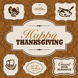 Vector Fall and Thanksgiving Frame Set