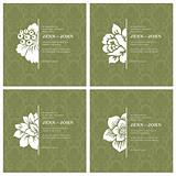Vector Floral Ornaments in Frame Set