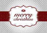 Vector Christmas Label and Background