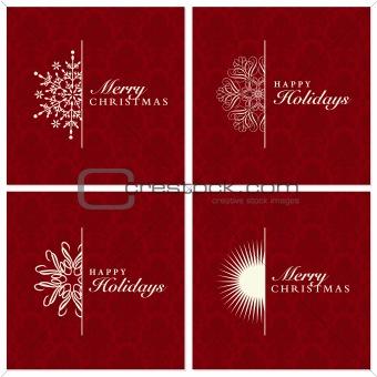 Vector Snowflake Ornament Set