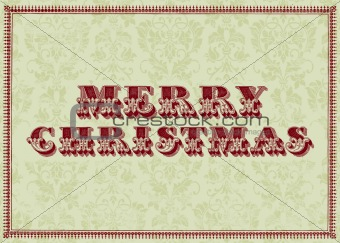 Vector Vintage Merry Christmas Frame