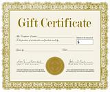 Vector Ornate Gift Certificate