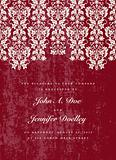 Vector Distressed Red Lace Background
