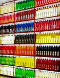 Soft focus juice rack colors texture