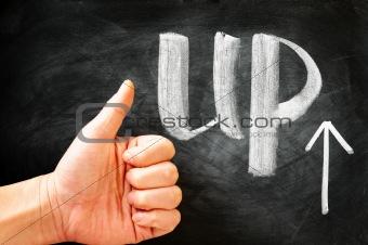 Thumb Up with an arrow