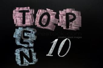 Crossword of Top Ten