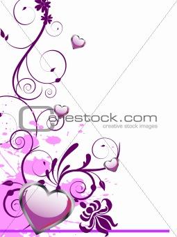 floral heart design