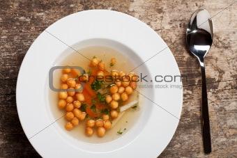 bavarian fried batter pearl soup