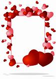 congratulatory background with two hearts