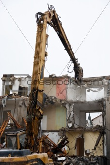 Demolition of flats