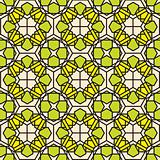 green mosaic stained glass pattern background
