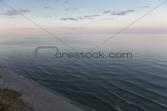 black sea in the evening