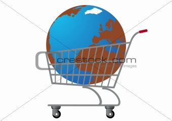 Grocery Cart with Earth