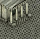 isometric 3d render of a Greek Roman temple