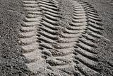 Tire print in sand