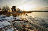 Winter sunset in Finland