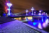 Night bridge in Turku