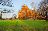 Turku castle at sunset