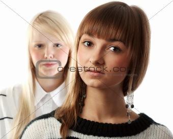Portrait two girls