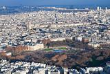 view on Luxembourg gardens and panorama of Paris