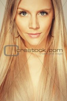 potrait beautiful blonde young girl