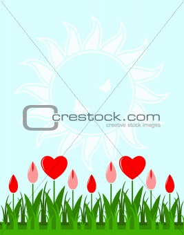 heart flower background