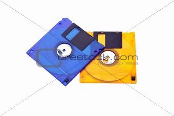 Floppy Disks Blue Yellow