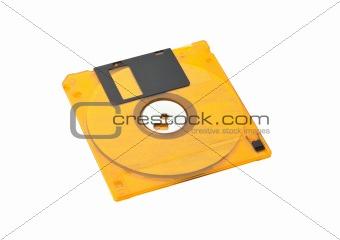 Floppy Disk Orange