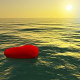 Heart Floating Away Showing Loss Of Love And Broken Heart