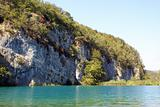 Rock and lake