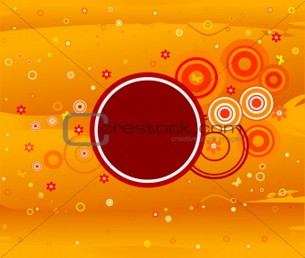 Abstract artistic background illustration, vector