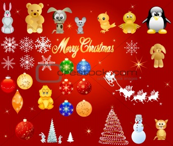 Christmas design elements, vector