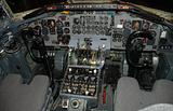 Military airplane cockpit