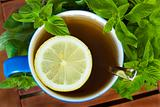 mint tea with lemon