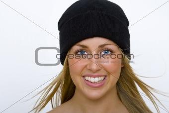 Beautiful Blond In Black