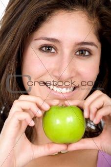 apple girl in green