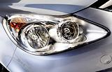 car head lights in silver