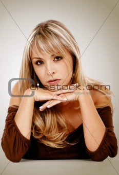 blonde fashion woman portrait
