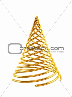 3d symbolic Christmas tree