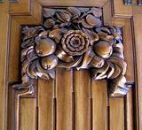 Ornate Art Deco Carved Door