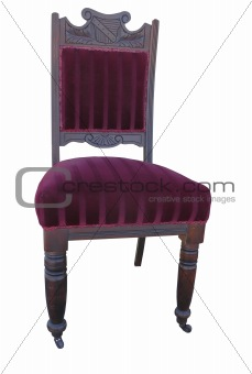Antique Velvet Chair
