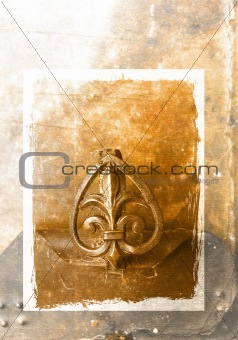 Grunge background with ornament