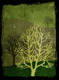Grunge seasonal trees