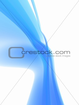 abstract flowing shape
