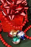 Christmas balls and present